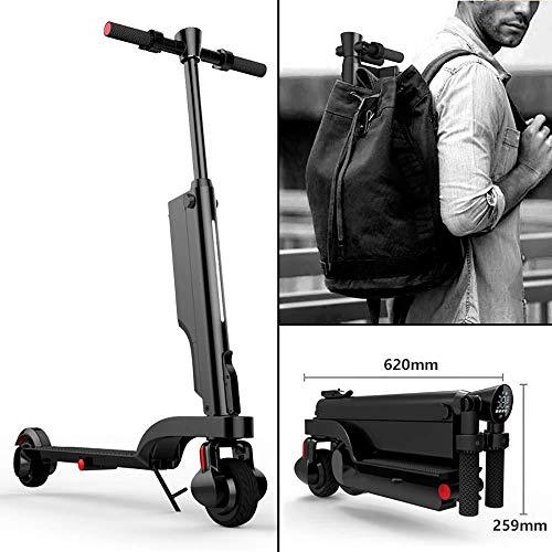 Elektrische step, inklapbaar, draagbaar, licht, 250 W, 25 km/h, elektronisch, kick-scooter, voertuig met afneembare lithium-accu, USB-oplader, lcd-display voor volwassenen