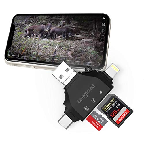 Trail Camera SD Card Viewer for iPhone/iPad/Android/Computer/Mac,4 in...