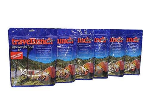6 x 250 g Travellunch Mahlzeiten, Bestseller Mix 2