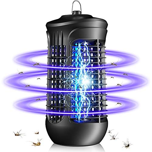 QUARED Lampe Anti Moustique, UV LED Tueur de Moustiques Intérieur Efficace Portée 30m² Pièges à Mouche, Destructeur d' Insectes Electrique pour Chambre, Maison, Cuisine, Bureau