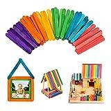 Zonster 50Pcs / Lot 93x10x2mm de Madera Natural Helado Palos de Helado del Arte Herramientas ni?os la Mano de Bricolaje Manualidades Sticks de Color de Paleta