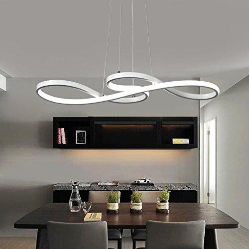 60W LED Pendelleuchte Modern Kreativ Design Lampe Innen Beleuchtung Höhenverstellbar Esstisch Leuchte Dekoration Hängelampe Weiss Acryl Musikalische Symbole Kronleuchter für Wohnzimmer , Neutralweiß