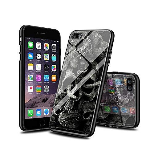 XhWEnfA B#004 iPhone 6S Plus Funda, iPhone 6 Plus Funda, Patrón Vidrio Templado Case Cover, Anti-Choques Y Anti-Arañazos Suave TPU Bumper Case para iPhone 6S Plus/iPhone 6 Plus WEnf B#004