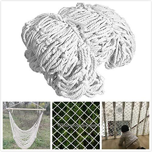 GWFVA vangnet voor kattennet, veiligheidsnet, trapveiligheidsnet voor het balkon, veiligheidsnet voor huisdieren, decoratief hek, wit nylon beschermingsnet