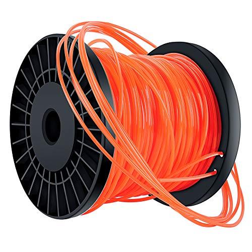 Bosuya Trimmerfaden Trimmer Schnur Rasen Mähfaden 2,4 mm x 100m Orange Rot 5-Kant Mähfaden Nylon Rasentrimmer Faden Durchmesser Dauerhaft