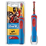 Oral-B Stages Power Kids - Cepillo Eléctrico Recargable para Niños con Personajes de Incredibles de Disney, 1 Mango, Cabezal de Recambio 1, Multicolor