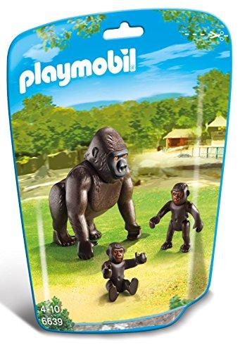 Playmobil 6639 - Gorilla con Cucciolo, 3 Pezzi