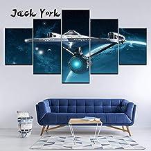 w15Y8 Pintura en Lienzo Star Trek Ships of The Line 5 Piezas Arte de la Pared Pintura Fondos de Pantalla modulares Impresión de póster Sala de Estar Decoración para el hogar 40X60 40X100Cm Sin Marco