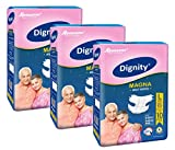 Dignity Magna Adult Diapers, Large, Waist Size 38' - 54', 10 Pcs/Pack (Pack of 3), 30 Pcs