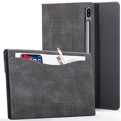 Forefront Hülles Hülle für Samsung Galaxy Tab S7 - Galaxy Tab S7 Hülle Ständer mit Dokumenten-Tasche und S Pen Halter - Schwarz - Smart Auto Schlaf/Wach, Galaxy Tab S7 11 Zoll 2020 Hülle, Tasche