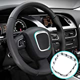 Coprivolante cromato opaco per A4, B6, B7, B8, A5, A6, C6, Q5, Q7, stemma di ricambio per interni auto