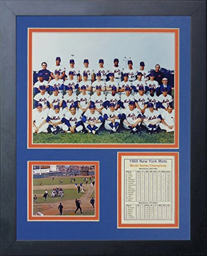 "1969 New York Mets - Posed 11"" x 14"" Framed Photo Collage by Legends Never Die, Inc."