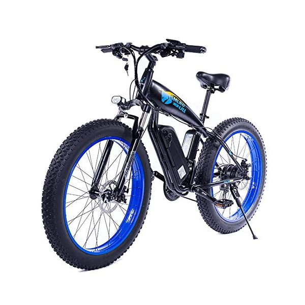 510DtmpfrCL. SS600  - JASSXIN Moutainbike Electric Mountain Bike, 48V-Lithium-Batterie, High-Speed-Motor, Thick Reifen, Elektrisches Fahrrad, Thick Ebike, Max 70Km / H