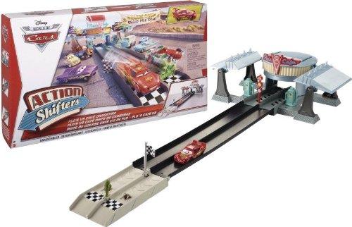 Disney Pixar Cars Action Shifters Flo's V8 Café Dragstrip Playset
