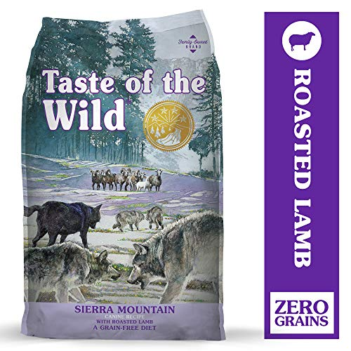 Taste of the Wild Sierra Mountain Grain-Free Dry Dog Food with Roasted Lamb 28lb