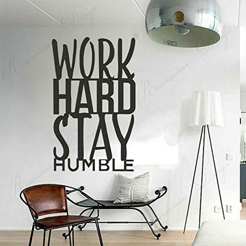 wZUN Trabaja Duro para mantenerte Humilde inspiración Citas Pegatinas de Pared calcomanías de decoración de Vinilo Papel Tapiz Mural extraíble 39X63cm