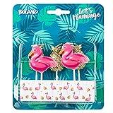 Boland 52564 – Velas de flamenco, piña, 5 unidades, velas de cumpleaños, minivelas, para tartas,...