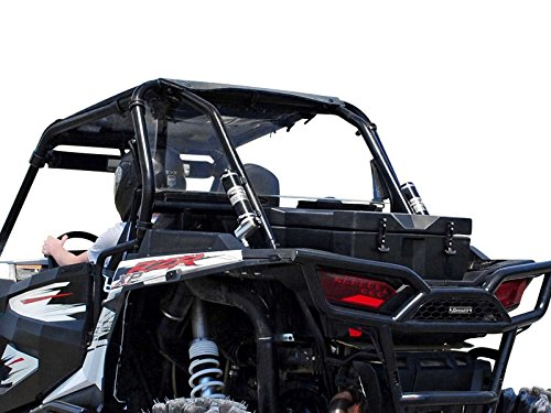 SuperATV Heavy Duty Clear, Unbreakable Polycarbonate Rear Windshield for Polaris RZR XP 1000 / XP 4 1000 (2014+) - Easy to Install - For Hard or Soft Tops - All Hardware Included - 100% Fit Guaranteed