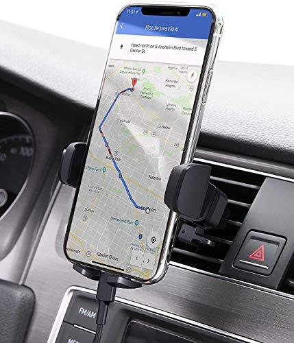 AUKEY Support Téléphone Voiture Grille Aération Universel avec Rotation 360° Porte Téléphone Voiture