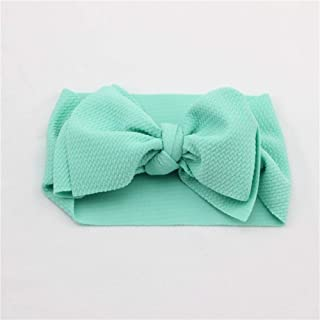 con fiocco elastico annodata Azzurro Brussels08 Fascia elastica per capelli per neonati