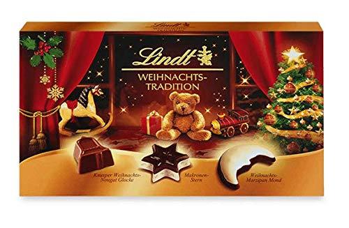Lindt Weihnachts-Tradition Pralinés, Weihnachts-Süßigkeit zum Verschenken oder selber genießen, 1 er Pack (1 x 137 g)