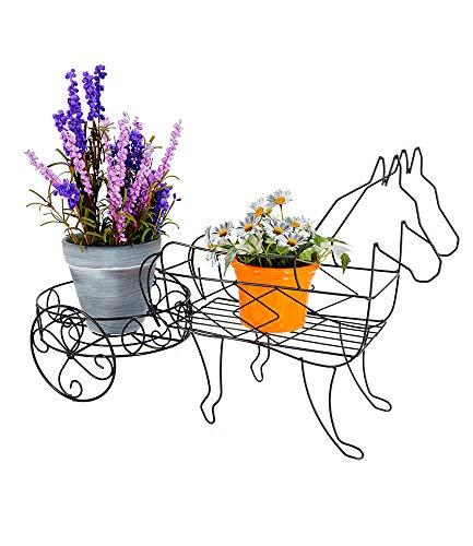 BALDUR-Garten GmbH Pflanzregal Pferde mit Wagen,1 Stück