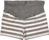 Petitebelle Schwangere Schwangerschaftshose, kurz Gr. L, Grau Weiß gestreift