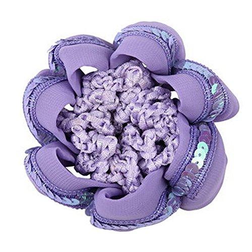 Set Of 4 Ladies Mesh élastique Bun Cover cheveux Nets cheveux Snood, Violet