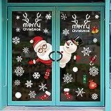 Pegatina De Navidad Vinilos Stickers Año Nuevo PVC Navidad Pegatinas Perfecto Para Decorar Las Ventanas De Tienda Cafetería Casa Navidad La Decoración