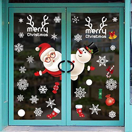 Pegatina De Navidad Vinilos Stickers Año Nuevo PVC Navidad Pegatinas Perfecto Para Decorar Las Ventanas De Tienda...