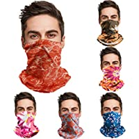 6-Pack Tisscare Bandana Scarf Neck Face Mask