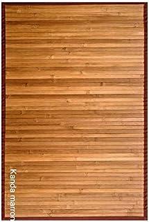 Clara Vidal Bertha Hogar - Alfombra Bambú Kanda, 120x180 cm, marrón