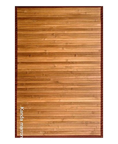 Clara Vidal Alfombra Bambú Kanda, Tela, 140x200 cm