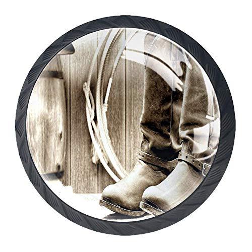 Aquarel Bloem Lade Trekken Handvat, Enkele Grote Petite Korenbloem Plain Achtergrond Moeder Aarde Verf 4 Stks Kast Knopen Lade Keuken Dressoir Kast 35mm Black07