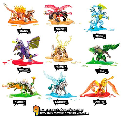 Mega Construx GLK05 Breakout Surtido Buildable Beast Collectible Series 4, Multicolor