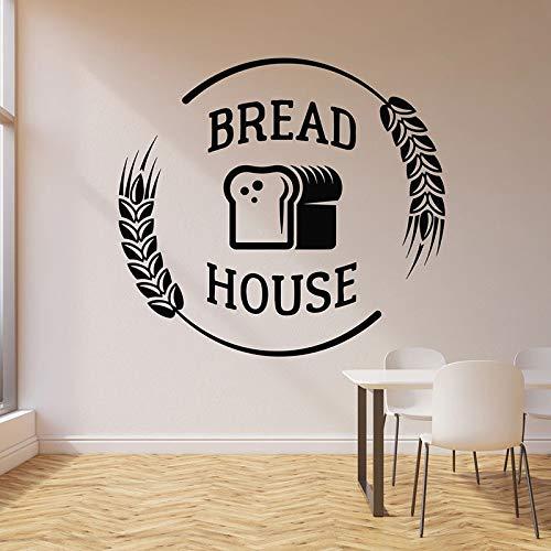 WERWN Calcomanía de Pared de la casa de panadería harina de Trigo Comida panadería Tienda de panadería decoración de Interiores Puerta Ventana Vinilo Adhesivo Arte Papel Tapiz