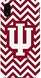 Skinit Lite Phone Case for iPhone XR - Officially Licensed Indiana University Indiana Chevron Print Design
