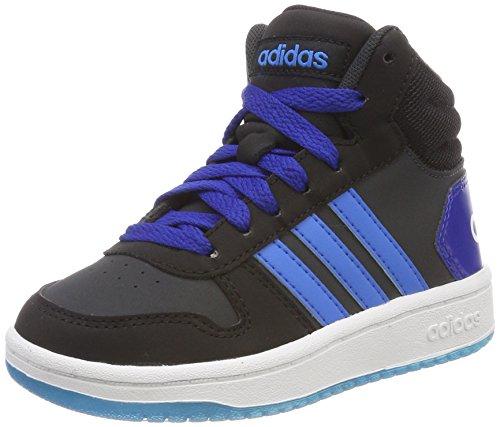adidas Vs Hoops Mid 2.0 K, Scarpe da Basket Unisex-Bambini, Grigio (Carbon/Brblue/Cblack 000), 33 EU