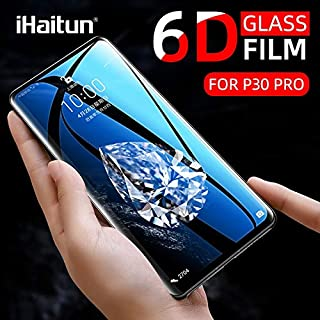VINTO-Phone Screen Protectors - iHaitun Luxury 6D Glass For Huawei P40 Pro P30 Mate 30 20 Tempered Glass Screen Protector ...