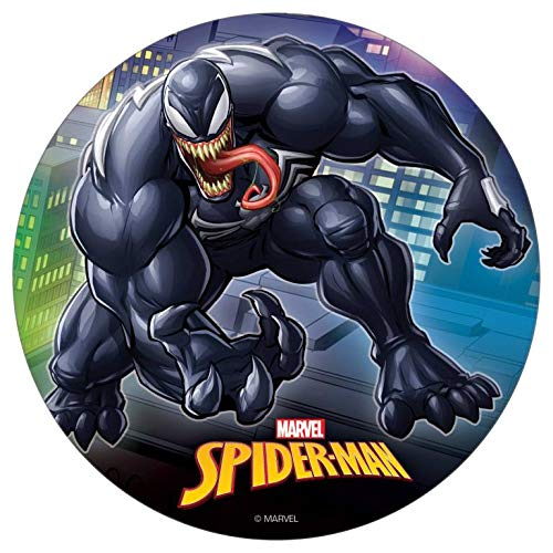 Dekora Venom Spiderman Marvel Tortenaufleger aus Esspapier 20 cm