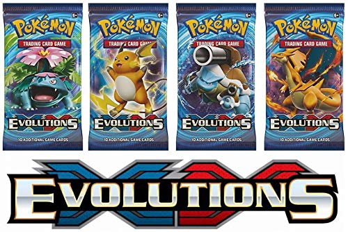 Pokemon XY Evolutions Sealed Booster Packs x4