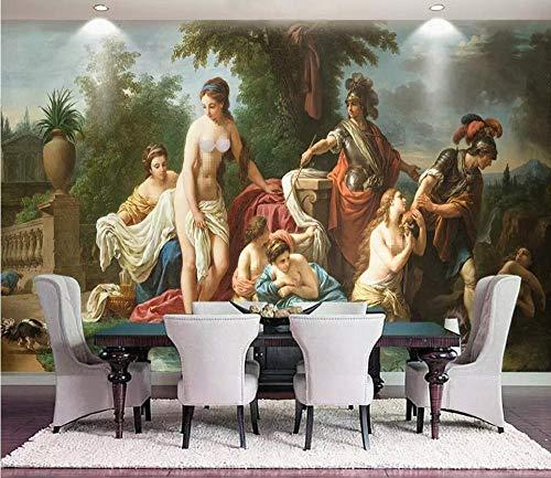 Wallpapers Mural Wallpaper Figuur Schilderen Retro afdrukken Emulatie Video's Hotel Villa Open haard grote muurschilderingen 250 * 175cm