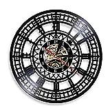 Reloj Big Ben Landmark Tower Reloj de pared Londres Big Ben Vinyl Record Reloj de pared británico Reloj de recuerdo de viaje Regalo