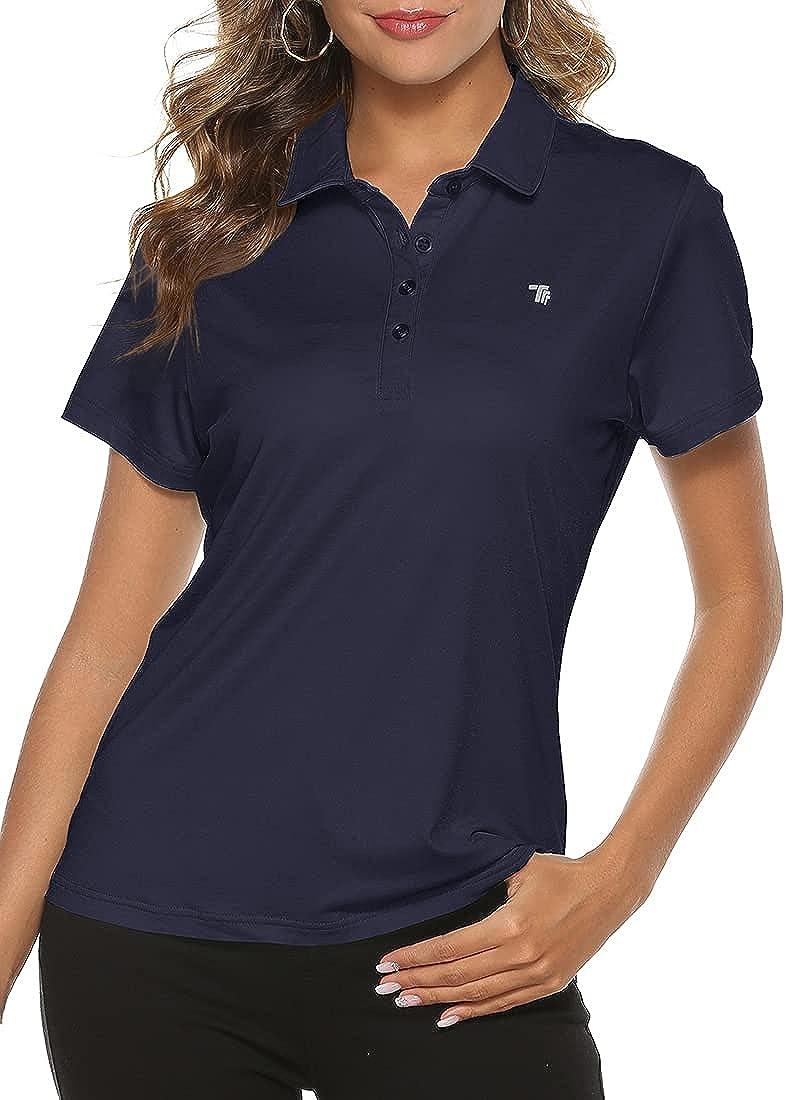 MoFiz Ladies Golf Shirts Short Sleeve Moisture Wicking Performance Polo Shirts at  Women's Clothing store