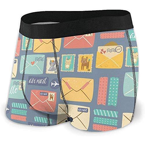 Preisvergleich Produktbild Web--ster Postcard Stationery Men 'S Boxershorts Stretch Bequeme atmungsaktive Unterwäsche