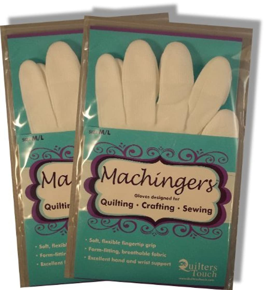 Bulk Buy: Quilters Touch Machingers Gloves Medium/Large 209G-L (2-Pack)