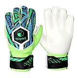Dongzhi Guantes de portero de fútbol con agarre fuerte para niños, guantes de portero de fútbol con agarre adhesivo, guantes de fútbol con agarre mejorado, talla juvenil