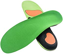VSUDO Arch Support Shoe Insoles, Plantar Fasciitis Shoe Inserts for Men or Women, Flat Feet Foot Orthotic Inserts, Arch Pain Orthotics Insoles, Athletic Running Insoles for Sneakers or Work Boots - S