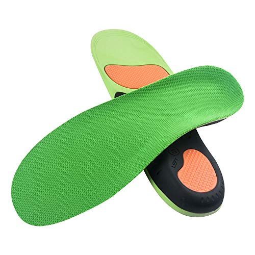VSUDO Arch Support Shoe Insoles, Plantar Fasciitis Shoe Inserts for Men or Women, Flat Feet Foot Orthotic Inserts, Arch Pain Orthotics Insoles, Athletic Running Insoles for Sneakers or Work Boots - XL