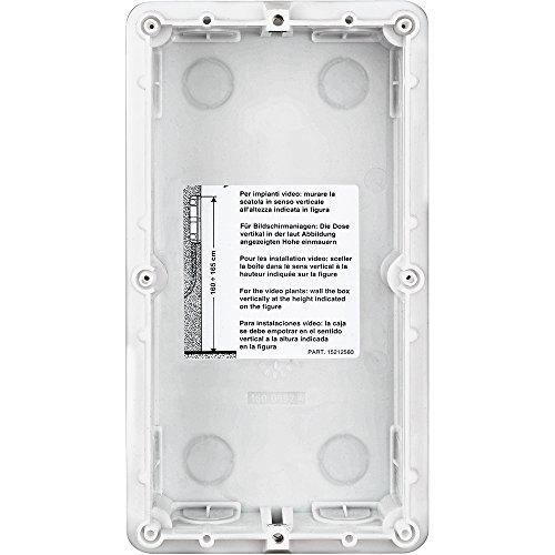 Inbouwdoos voor SFERA deurstations, 2-modulig, horizontaal en verticaal in te rijen